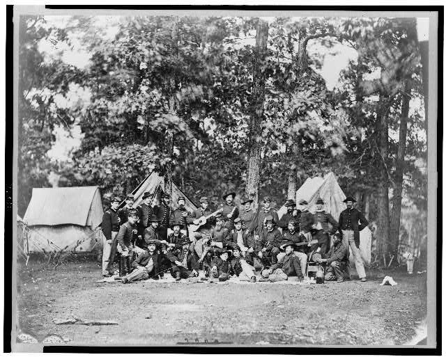 [Officers of U.S. horse artillery brigade, near Culpeper, Va., September, 1863]