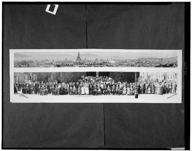 [Panama-Pacific exposition, general view and group portrait]