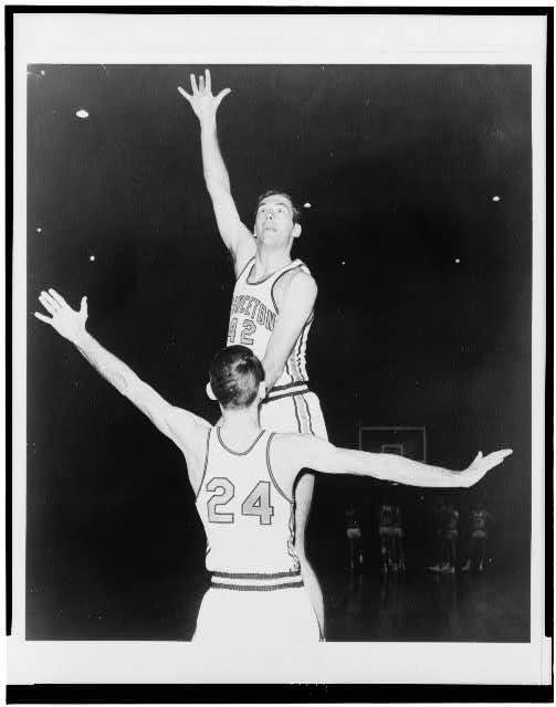 [Bill Bradley playing basketball]
