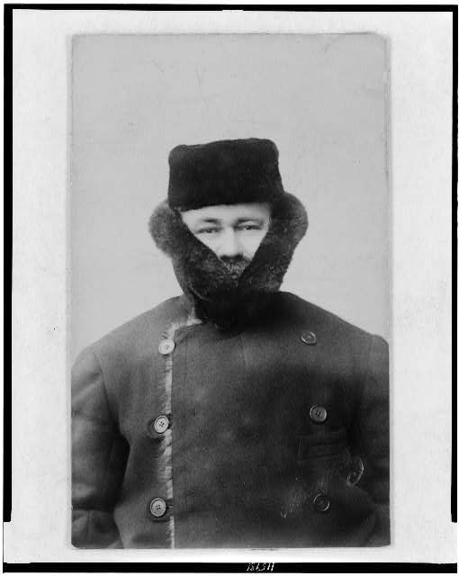 [Herman Hollerith, half-length portrait, facing front, wearing heavy coat]