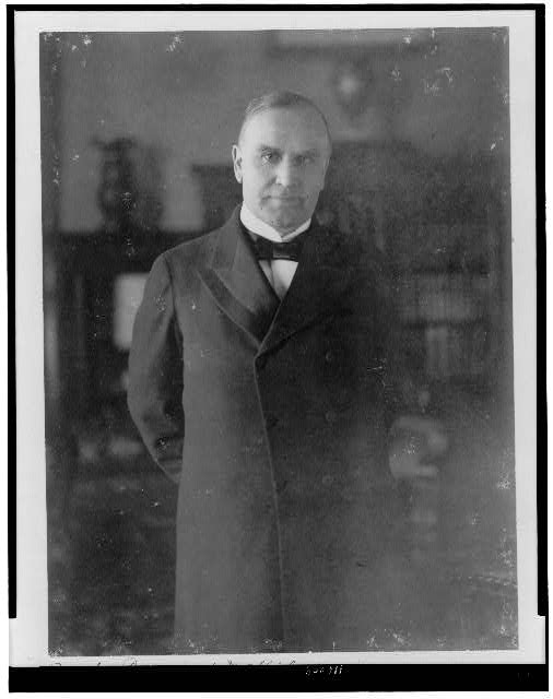 [President William McKinley, three-quarter length portrait, standing, facing front]