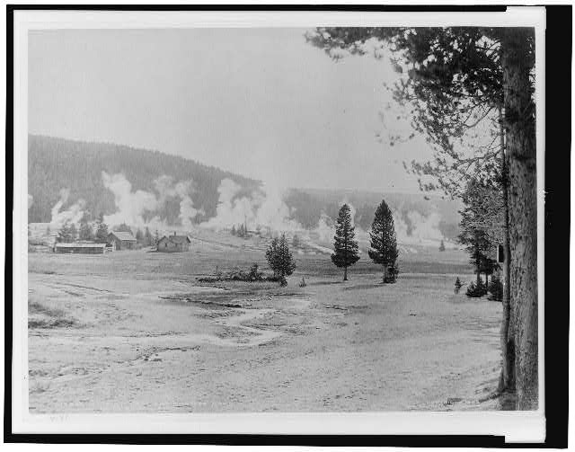 Military post and giantess group, Upper Geyser Basin
