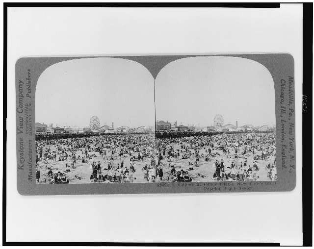 T[he?] bathers at Coney Island, New York&#39;s most popular beach resort