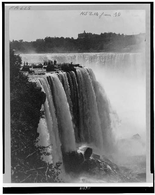 [Horseshoe Falls from Goat Island, Niagara Falls, New York]