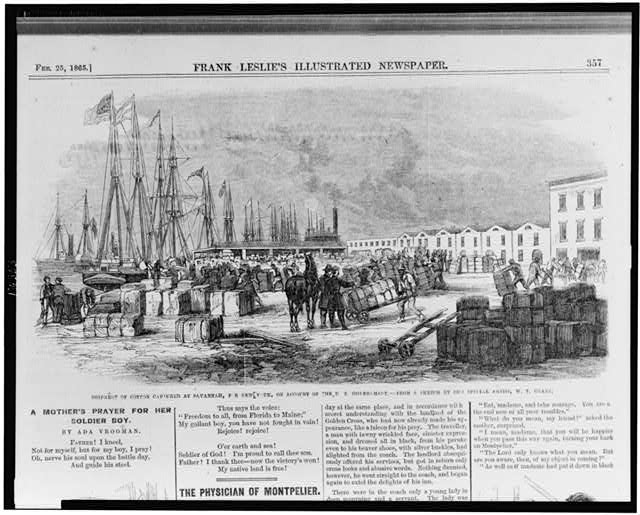 Shipment of cotton at Savannah, for New York, on account of the U.S. Government