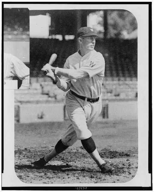 [Sam Rice, Washington Nationals baseball player, full-length portrait, swinging at baseball]