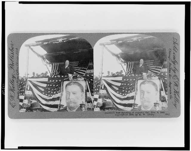 President Taft speaking at Augusta, Ga. Nov. 8, 1909