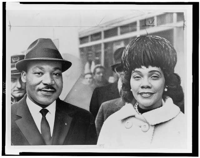 [Dr. &amp; Mrs. Martin Luther King Jr., head-and-shoulders portrait, facing front]