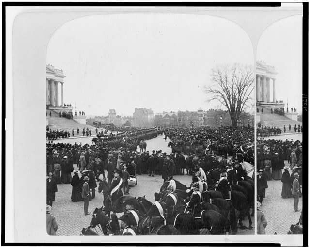 Awaiting the president at Capitol, inauguration of McKinley 1901