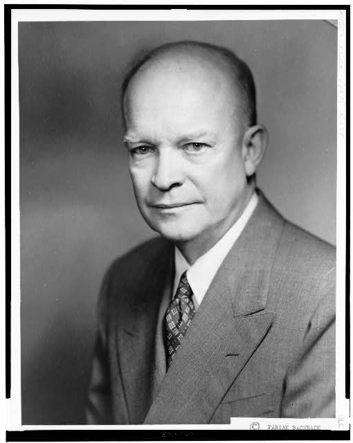 [Dwight D. Eisenhower, head-and-shoulders portrait, facing slightly left]