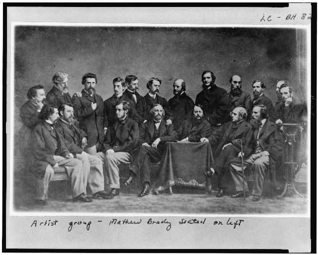 Artist group - Mathew Brady seated on left