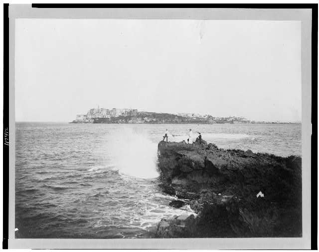 [View of Morro Castle from across harbor, San Juan, Puerto Rico]