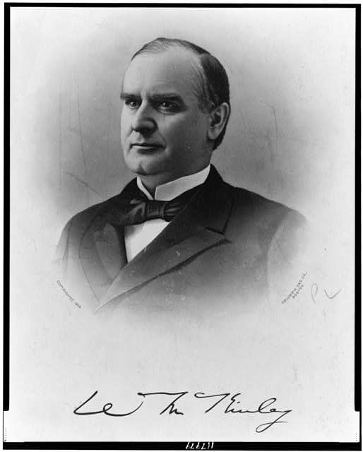 [President William McKinley, head-and-shoulders print, facing left]