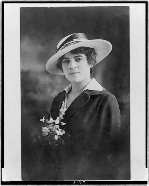 [Mrs. Clarice Margoles Baright, head-and-shoulders portrait postcard, facing front]
