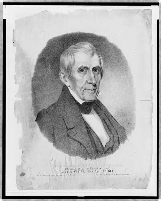 William Henry Harrison, 9th President of the United States. Born Febr. 9th, 1773, died April 4th, 1841