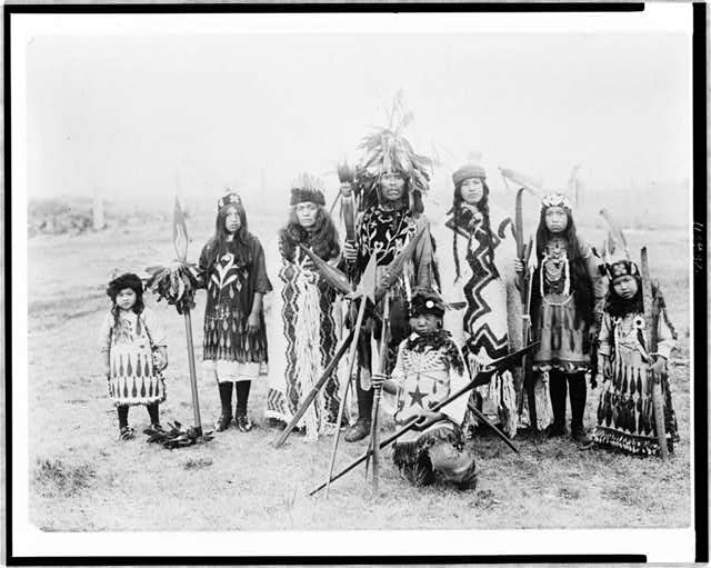 A family of the Lummi tribe of Siwash Indians