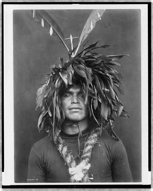 Warrior's feather head-dress--Cowichan