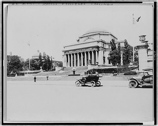 [The library of Columbia University, New York City]