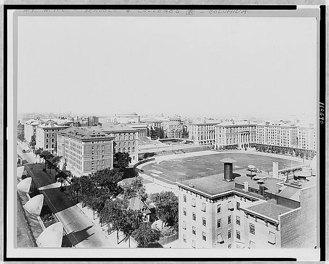 [Bird's-eye view of Columbia University, New York City]