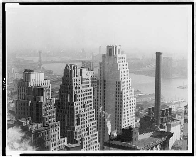 [View from Joseph Cassidy's window, lower New York]