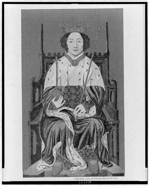Richard II on the throne in England--From an ancient painting in Westminster Abbey