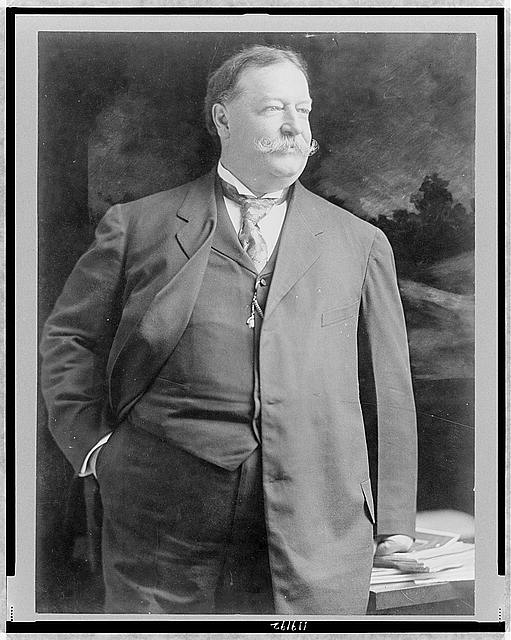 [William Howard Taft, half-length portrait, standing, facing right]