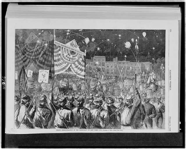 Grand demonstration of the democracy in New York City, October 5, 1868