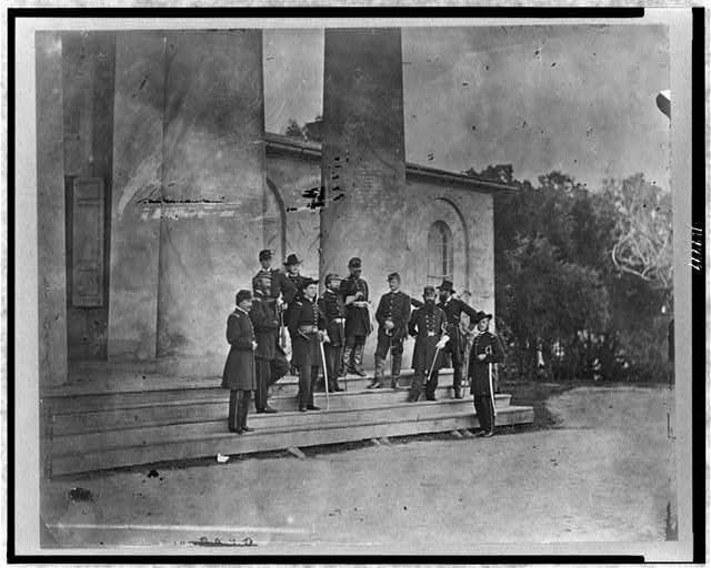 Gen. S.P. Heintzelman and staff, Arlington, Virginia, May 1863