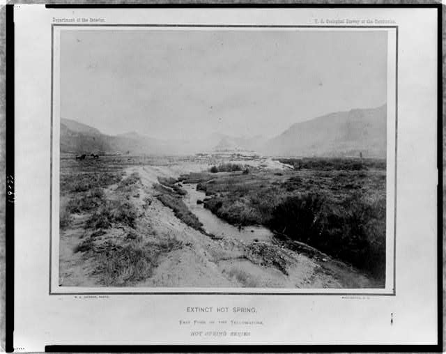 Extinct hot spring, east fork of the Yellowstone, hot spring series