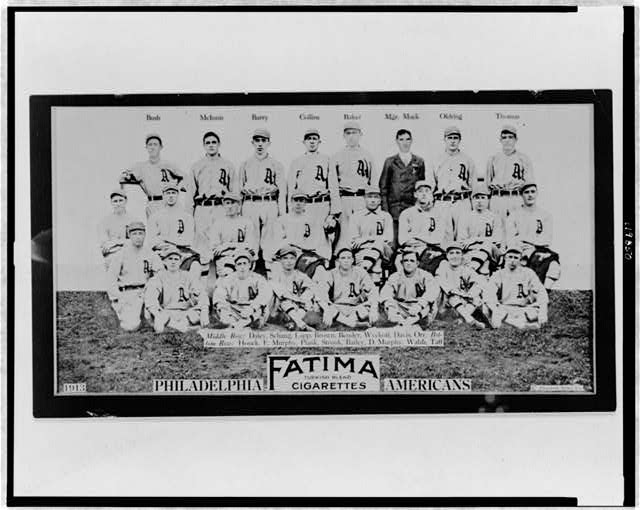 [Philadelphia Athletics, baseball card portrait]
