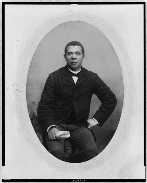 [Booker T. Washington, three-quarter length portrait, seated, facing front]