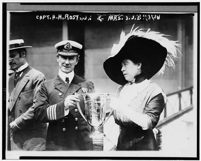 Capt. A.H. Rostron & Mrs. J.J. Brown