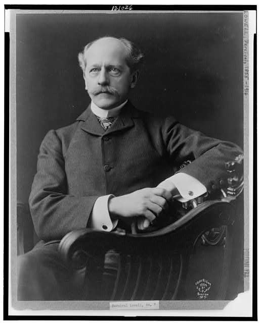 [Percival Lowell, half-length portrait, facing slightly left]