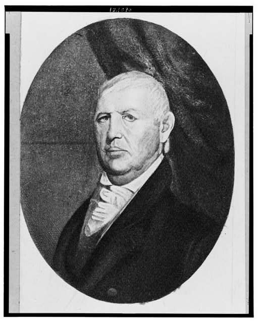 [Isaac Shelby, first Governor of Kentucky, head-and-shoulders portrait, facing left]