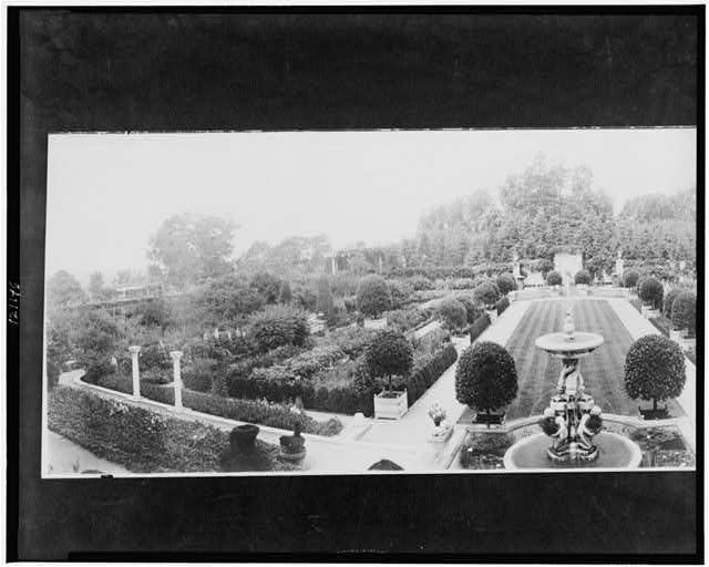 Larz Anderson garden, Brookline, Mass., 1911