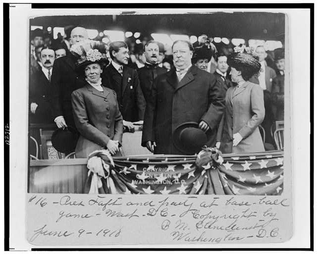 Pres. Taft and party at base-ball game, Washington, D.C.