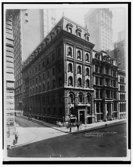 Bank of New York Bldg. 48 Wall St. cor. William St.