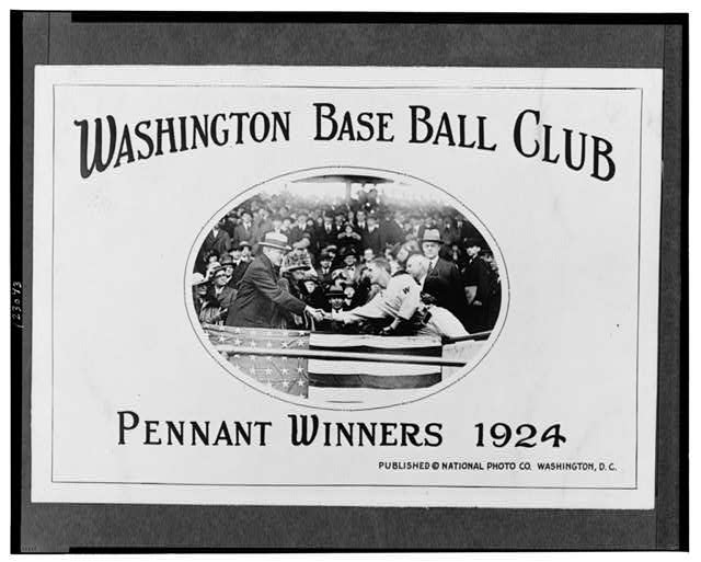 Washington BaseBall Club--Pennant winners 1924