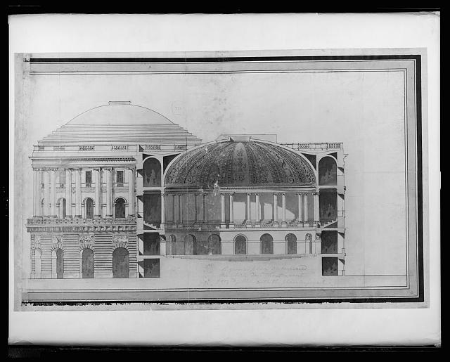 """[United States Capitol (""""Federal Capitol""""), Washington, D.C. Cross section]"""