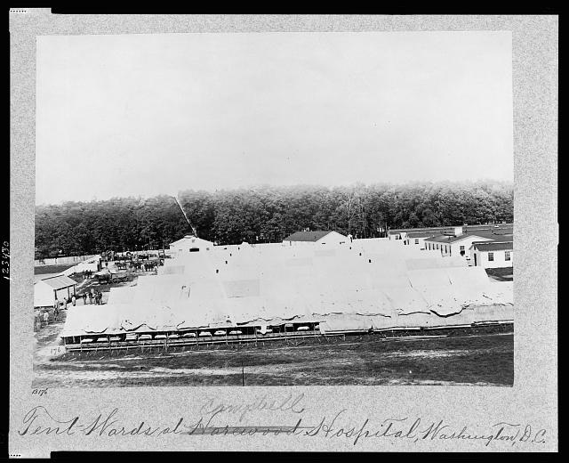 Tent wards at Harewood (i.e. Campbell) Hospital, Washington, D.C.