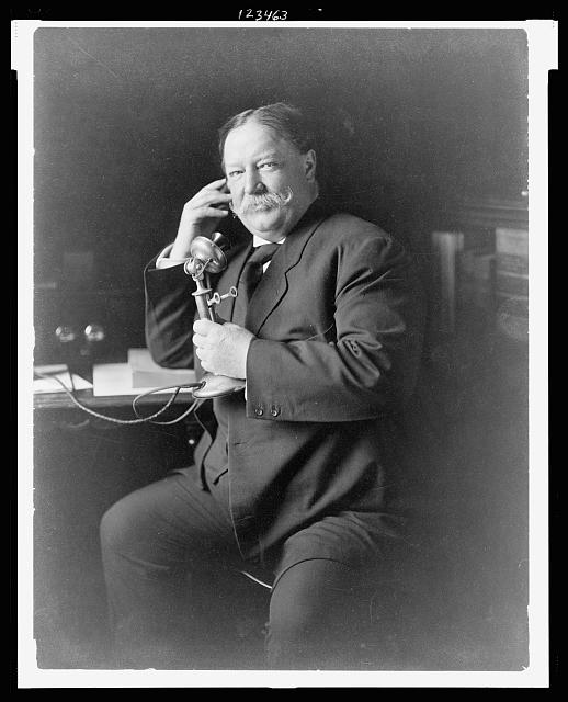 Taft at the phone