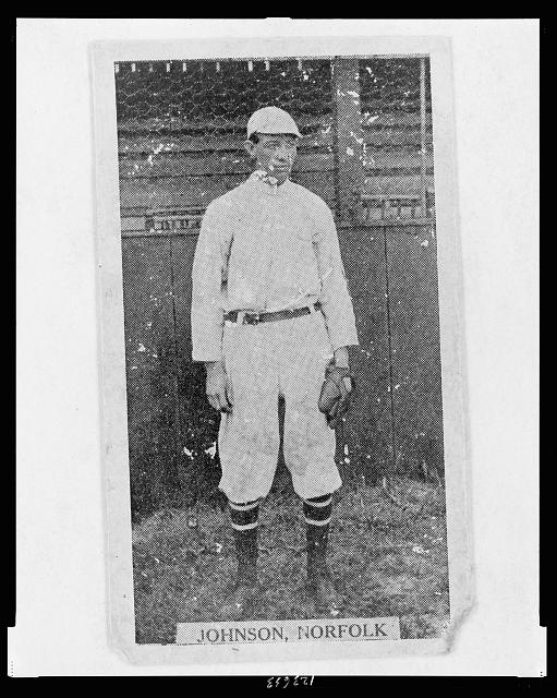 [Johnson, Norfolk Team, baseball card portrait]