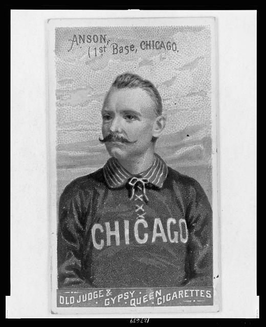 [Cap Anson, Chicago White Stockings, baseball card portrait]
