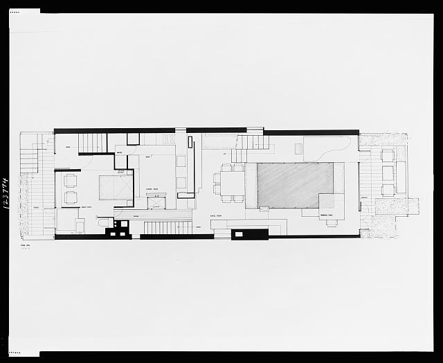 [Paul Rudolph's penthouse apartment, 23 Beekman Place, New York City. Plan, third level. Photograph]
