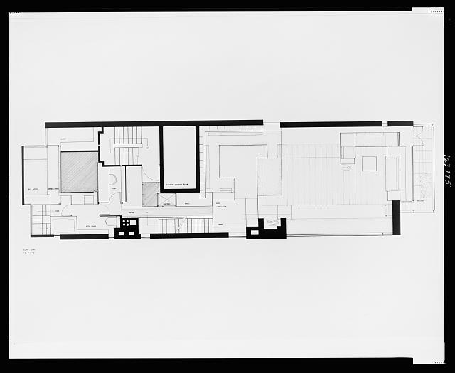 [Paul Rudolph's penthouse apartment, 23 Beekman Place, New York City. Plan, second level. Photograph]