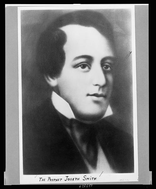 [Joseph Smith, head-and-shoulders portrait, facing right]