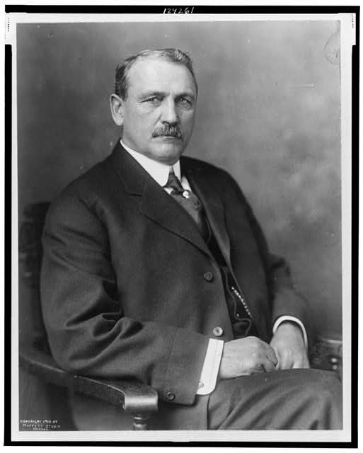 [John F. Stevens, half-length portrait, seated, facing slightly left]