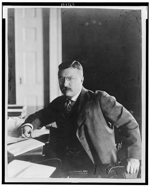 President Roosevelt in his new private office