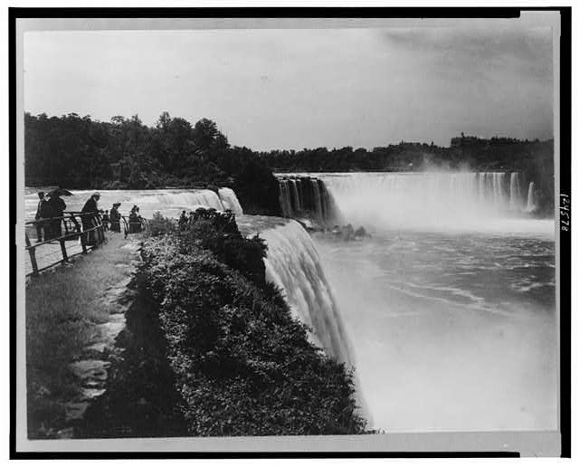 [View of Niagara Falls from above the falls, New York]