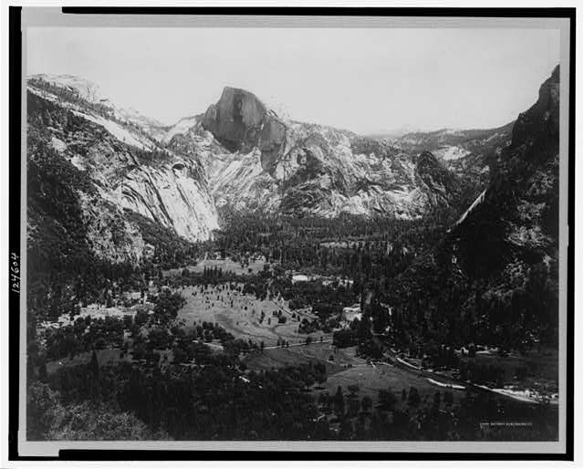 California--Yosemite--Head of the Valley from Columbia Rock